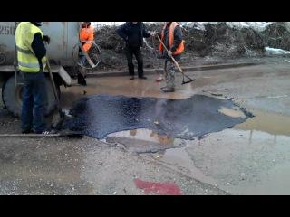 В Калуге начали ремонтировать дороги